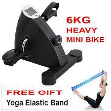 sellincost 6kg mini exercise bike rehabilitation therapy europe spec heavy le led cycle pedal bike resistance