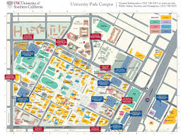 usc university park campus parking structures entrances get new