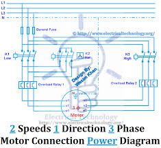two speeds one direction three phase motor connection power two speeds one direction three phase motor connection power diagram