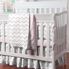 image of gray chevron crib bedding designs