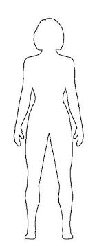 Human Body Outline Printable Human Body Organs Outline With