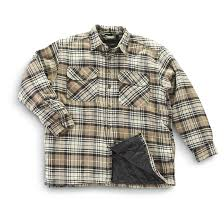 Mountain Ridge® Quilted Flannel Shirt - Jacket - 203347, Shirts at ... & Mountain Ridge® Quilted Flannel Shirt-Jacket, Tan Adamdwight.com