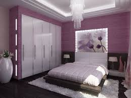 Small Bedrooms Decor: Royal purple bedrooms decor with purple wall and white  ceiling and purple closet with 5 door white in addition jar and wood bed  with ...