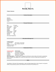 Resume In Table Format New Format For Job Application Pdf Basic