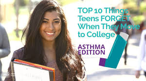 Teens Collage 10 Things Teens Forget To Take To College Asthma Edition