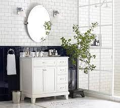 Kensington Pivot Oval Wall Mirror Pottery Barn