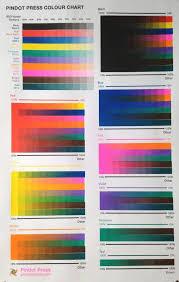 Printing Colour Chart Free Pindot Press Colour Chart Just Pay Shipping