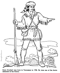 Small Picture WK 5 Davy Crockett at Alamo coloring pages CC Cycle 3