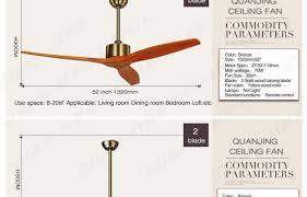 ceiling fan size for bedroom.  For Village Nordic 2 Wooden Blade Dc Ceiling Fan With Remote Control Attic  Dining Room Without Light  In Size For Bedroom R