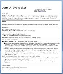 Sample Resume For Mechanical Design Engineer Pdf Mechanical