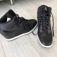 nike dunk sky hi essential leather trainers women s fashion shoes on carou