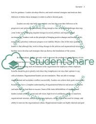 Personal Leadership Profile Essay Example Topics And Well