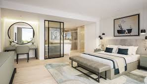 ... Luxury Contemporary Master Bedroom Suite With Open Plan Ensuite  Throughout Master Bedroom With Open Bathroom For