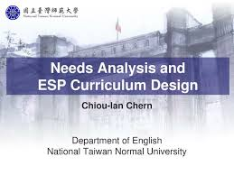 Ppt - Needs Analysis And Esp Curriculum Design Powerpoint ...