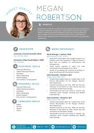 Word Template Cv The Megan Resume Professional Word Template Cv Templates For