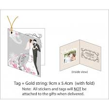 Folding Gift Tags Gift Tag Thank You Card Printing With Fold 4 5cm W X 5 4