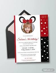 minnie mouse invitation template 26 minnie mouse invitation templates psd ai word publisher