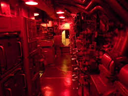 subdued lighting. USS Pampanito: Control Room Under Subdued Lighting U