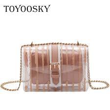 <b>TOYOOSKY High Quality</b> Clear <b>Pvc</b> Handbags Striped Women ...