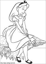 Alice In Wonderland Coloring Pages On