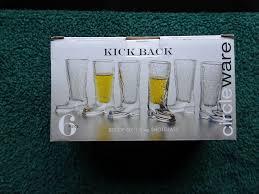 circleware kickback cowboy boot shot glasses set of 6 1 5 oz clear 691039662460