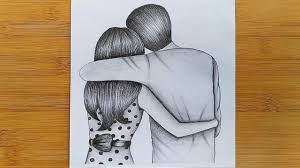 Pencil Sketches Of Couples How To Draw Romantic Couple With Pencil Sketch Step By Step