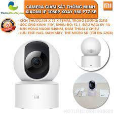 Camera giám sát thông minh Xiaomi IP 1080P xoay 360 PTZ SE - Bảo hành 6  tháng - Shop Thế Giới Điện Máy Thế giới điện máy