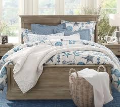 gray blue beach bedroom pottery