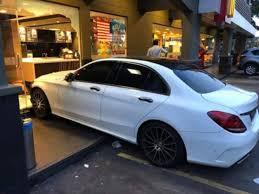man drives mercedes sedan into sunway mentari mcdonald s