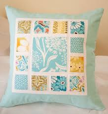 Love this idea - simple and clean. Great way to use a favorite ... & Love this idea - simple and clean. Great way to use a favorite charm  square. Patchwork CushionQuilted PillowSewing ... Adamdwight.com