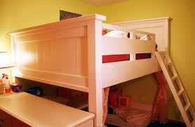 farmhouse loft bed for double mattress not too low not too tall