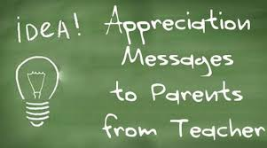 Teacher Message Appreciation Messages To Parents From Teacher