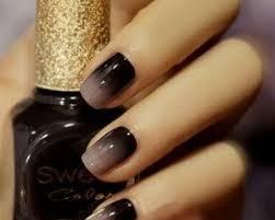 beige and black grant nail art