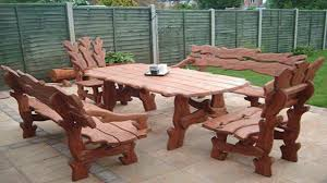 unique outdoor furniture ideas. Unusual Wooden Chairs And Table-Interesting Furniture Ideas Unique Outdoor D