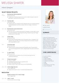 Interior Designer Resume Sample 60 Eye Catching Designer Resume Templates To Get A Job Wisestep 8