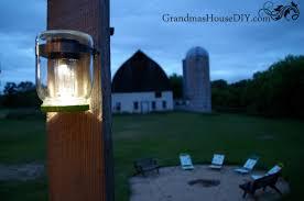 mason jar solar tutorial lights deck backyard barn