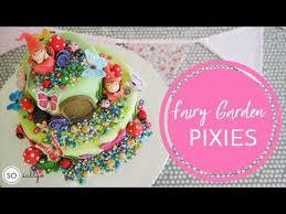 children s birthday cake decorating ideas fondant icing fairy garden part 1