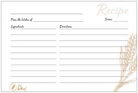 Printable Recipe Cards 4x6 And Full Page Eat Wheat