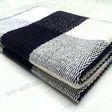 100 cotton rugs cotton rug hand woven checd carpet braided kitchen mat black and white 100