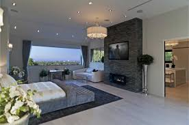 Modern Mansion Master Bedroom With Tv Images And Enchanting Bedrooms