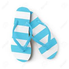 Light Blue Flip Flops Top View Of Summer Beach Light Blue Flip Flops Isolated On White