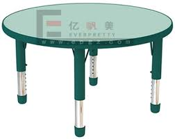 Hot Sale Nursery Furniture Kids School Table And Chair Round School