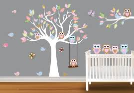 wall designs nursery art decor baby wall designs and this wall design idea blue white flower for