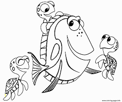 Nemo And Friends Coloring Pages Nemo Coloring Pages Free Finding