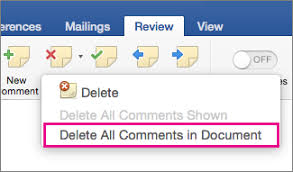 Insert, delete, or change a comment - Word for Mac
