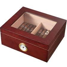 visol santa clara gl top and rosewood cigar humidor