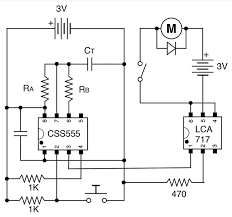 the remarkable css555 nuts volts magazine for the schematic of the one shot circuit used for controlling the fan motor note the bypass capacitor across the supply and ground 0 1 µf suffices in such