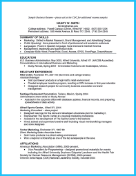 Business Resume Appealing Formula for Wonderful Business Administration Resume 83