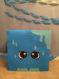 refrigerator box. cool cube shopkins prop for birthday party (recycled refrigerator box