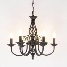 vintage wrought iron chandelier e14 candle light lamp black white metal lighting fixture rustic chandeliers white chandelier from fried 109 32 dhgate com